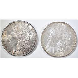 1889-O & 1900 MORGAN DOLLARS CH BU