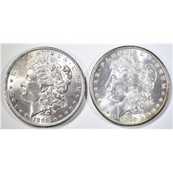 1896 & 98-O MORGAN DOLLARS CH BU