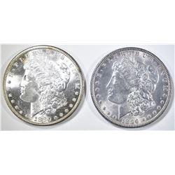 1880-S & 1896 MORGAN DOLLARS CH BU