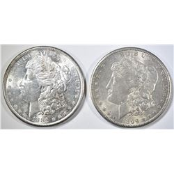 1881-S & 99-O MORGAN DOLLARS CH BU