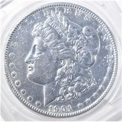 1901 MORGAN DOLLAR  AU CLEANED