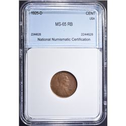 1925-D LINCOLN CENT NNC GEM BU RB