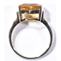 10K GOLD CITRINE LADIES RING