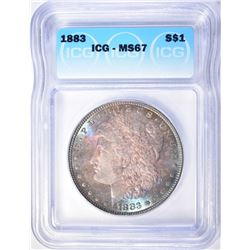 1883 MORGAN DOLLAR ICG MS-67