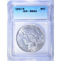1927-D PEACE DOLLAR  ICG MS-63