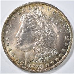 1884-O MORGAN DOLLAR CH BU RAINBOW COLOR