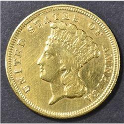 1854 $3 GOLD XF/AU