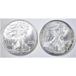 2001 & 2009 SILVER EAGLES