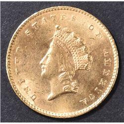 1855 $1 GOLD BU
