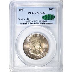 1957 FRANKLIN HALF DOLLAR PCGS MS-66 CAC