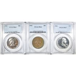 3 PCGS PROOF FRANKLIN HALVES