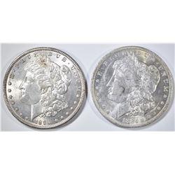 1884-O & 90 MORGAN DOLLARS CH BU