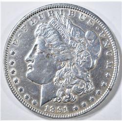 1891 MORGAN DOLLAR CH AU