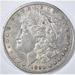 1891-S MORGAN DOLLAR CH AU