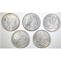 5 MORGAN DOLLARS AU SOME PROBLEMS