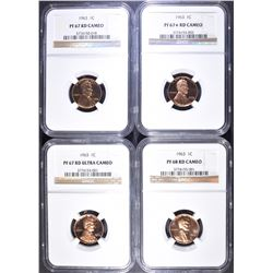 4-1963 LINCOLN CENTS NGC GRADED