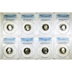 8 WASHINGTON QUARTERS PCGS PR-69DCAM