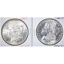 1883 & 1884-O CH BU NMORGAN DOLLARS
