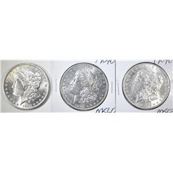 1884-O & 2-1904-O CH BU MORGAN DOLLARS