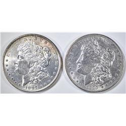 1890 AU/BU & 97 BU MORGAN DOLLARS