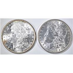 1878-S & 1898 MORGAN DOLLARS CH BU