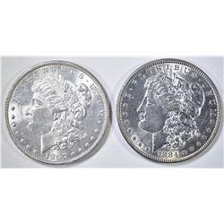 1884 & 97 MORGAN DOLLARS BU