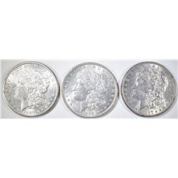 1896, 97, 98 MORGAN DOLLARS BU