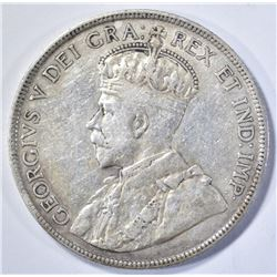 1916 CANADIAN FIFTY CENTS, XF!