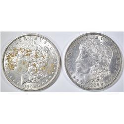 1885-O & 1896 BU MORGAN DOLLARS