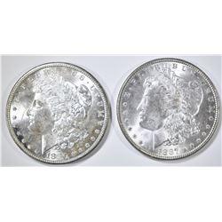1880-S & 87 CH BU MORGAN DOLLARS