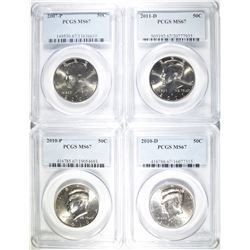 4-PCGS GRADED KENNEDY HALF DOLLARS: