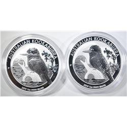 2-2019 AUSTRALIAN 1oz KOOKABURRA COINS