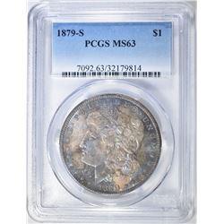 1879-S MORGAN DOLLAR PCGS MS-63