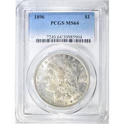 1896 MORGAN DOLLAR PCGS MS-64