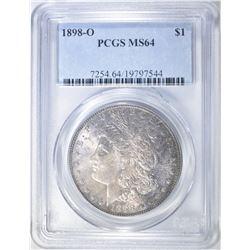 1898-O MORGAN DOLLAR PCGS MS-64