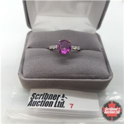 Ring - Size 10: Pink Magenta Mystic Topaz - Sterling Silver