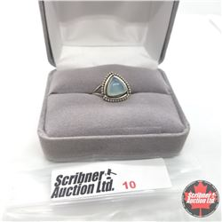 Ring - Size 7: Blue Chalcedony - Sterling Silver