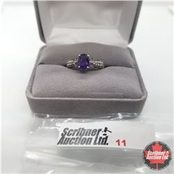 Ring - Size 8: Amethyst - Sterling Silver