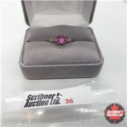 Ring - Size 5: Mystic Pink Topaz - Sterling Silver