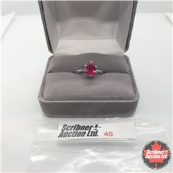Ring - Size 5: Simulated Ruby - Sterling Silver