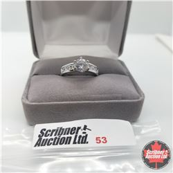 Ring - Size 6: Simulated Diamond - Sterling Silver