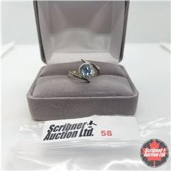 Ring - Size 5: Sky Topaz - Sterling Silver