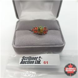 Ring - Size 9: Sable Ethiopian Fire Opal - Sterling Silver
