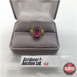 Ring - Size 6: Rose Titanium Quartz - Sterling Silver