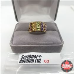 Ring - Size 6: Multi Gem - Sterling Silver