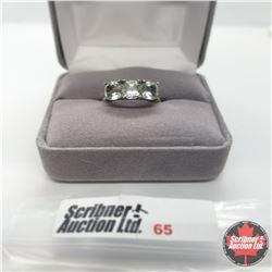 Ring - Size 8: Prasiolite Platinum Overlay