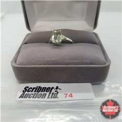 Ring - Size 5: Green Amethyst & Peridot - Sterling Silver