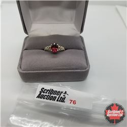 Ring - Size 6: Garnet - Sterling Silver