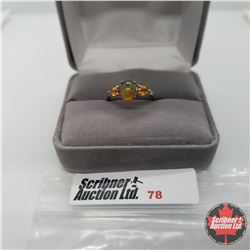 Ring - Size 7: Sable Ethiopian Opal - Sterling Silver