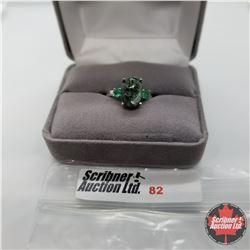 Ring - Size 6: Seraphinite Emerald - Sterling Silver
